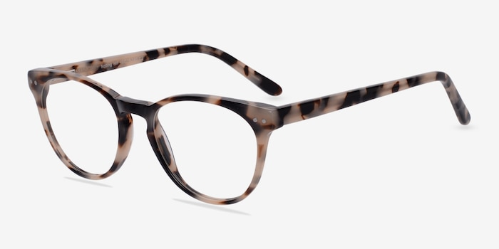 Notting Hill Ivory/Tortoise Acetate Eyeglass Frames from EyeBuyDirect, Angle View