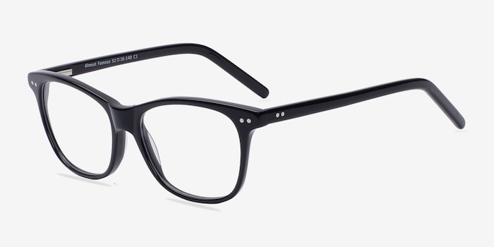 Almost Famous Black Acetate Eyeglass Frames from EyeBuyDirect, Angle View