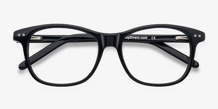 Almost Famous Black Acetate Eyeglass Frames from EyeBuyDirect, Closed View