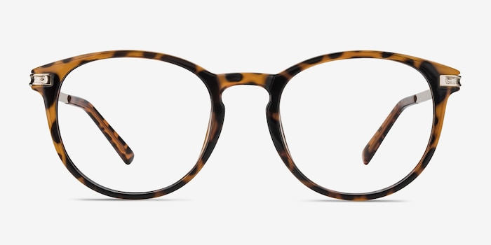 Daphne Brown/Tortoise Plastic Eyeglass Frames from EyeBuyDirect, Front View
