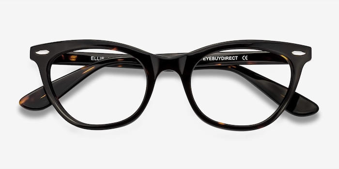 Ellie Tortoise Acetate Eyeglass Frames from EyeBuyDirect, Closed View