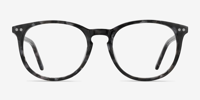 Fiction Gray/Floral Acetate Eyeglass Frames from EyeBuyDirect, Front View
