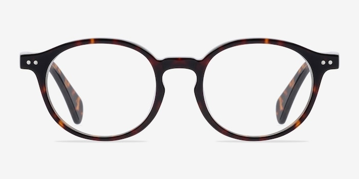 Sophie Tortoise Acetate Eyeglass Frames from EyeBuyDirect, Front View