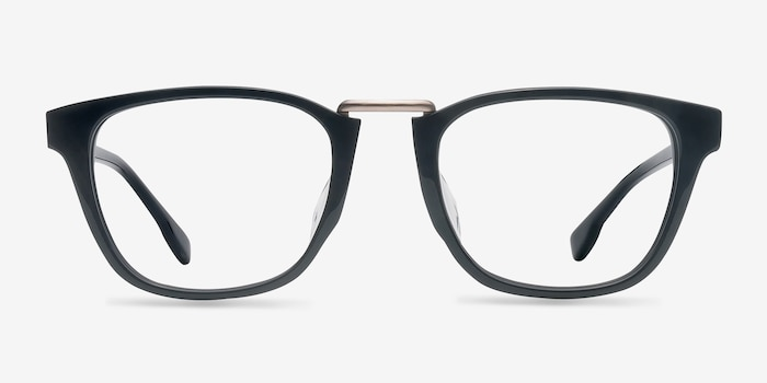 Dandy Black Acetate Eyeglass Frames from EyeBuyDirect, Front View