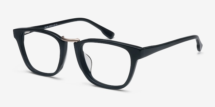 Dandy Black Acetate Eyeglass Frames from EyeBuyDirect, Angle View
