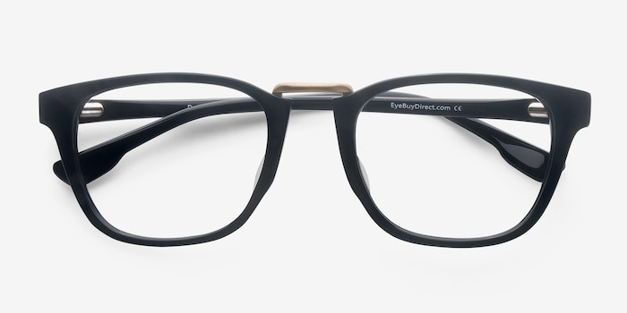 Dandy Black Acetate Eyeglass Frames from EyeBuyDirect, Closed View
