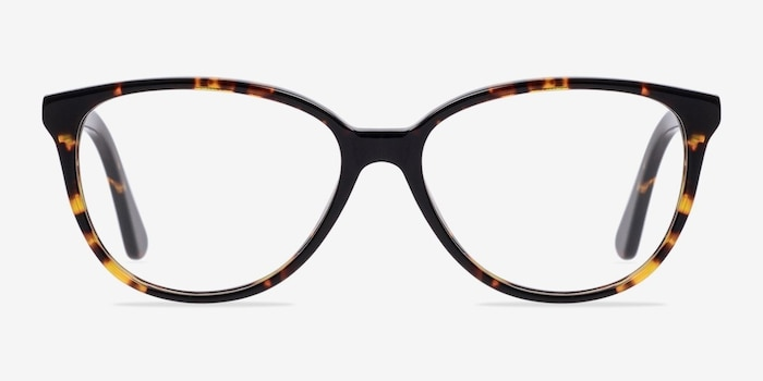 Hepburn Tortoise Acetate Eyeglass Frames from EyeBuyDirect, Front View