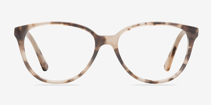 Hepburn Ivory/Tortoise Acetate Eyeglass Frames from EyeBuyDirect, Front View