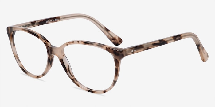 Hepburn Ivory/Tortoise Acetate Eyeglass Frames from EyeBuyDirect, Angle View