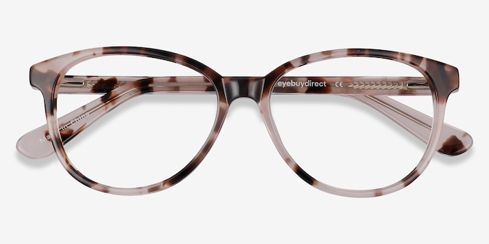 Hepburn Ivory/Tortoise Acetate Eyeglass Frames from EyeBuyDirect, Closed View
