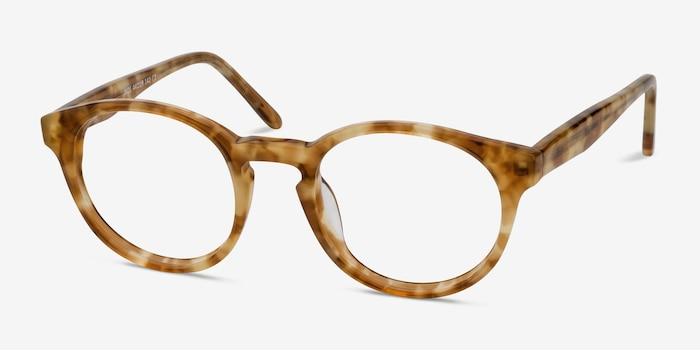 Jade Tortoise Acetate Eyeglass Frames from EyeBuyDirect, Angle View