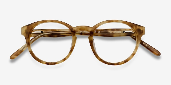 Jade Tortoise Acetate Eyeglass Frames from EyeBuyDirect, Closed View
