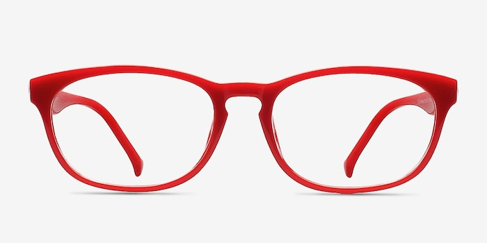Drums  Red  Plastic Eyeglass Frames from EyeBuyDirect, Front View