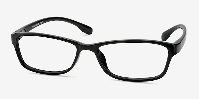 Versus  Black  Plastic Eyeglass Frames from EyeBuyDirect, Angle View