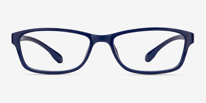 Versus  Navy  Plastic Eyeglass Frames from EyeBuyDirect, Front View
