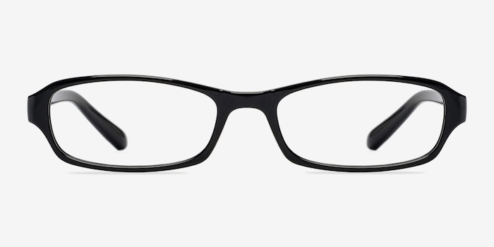 Adept  Black  Plastic Eyeglass Frames from EyeBuyDirect, Front View