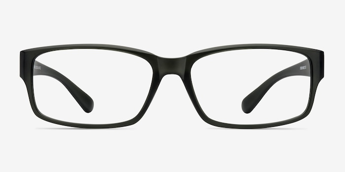 Apollo Matte Gray Plastic Eyeglass Frames from EyeBuyDirect, Front View