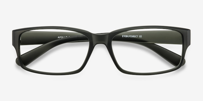 Apollo Matte Gray Plastic Eyeglass Frames from EyeBuyDirect, Closed View