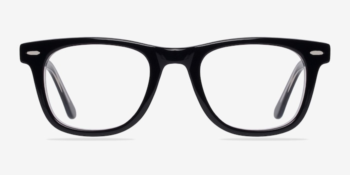Blizzard  Black  Acetate Eyeglass Frames from EyeBuyDirect, Front View