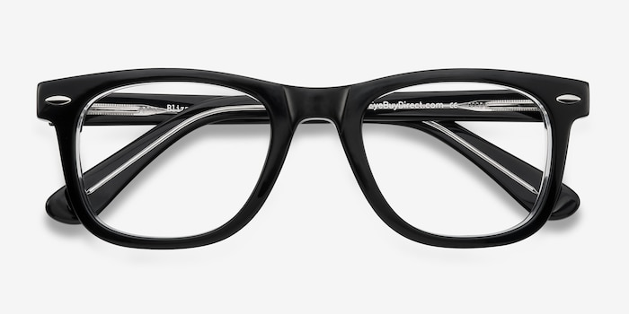 Blizzard  Black  Acetate Eyeglass Frames from EyeBuyDirect, Closed View