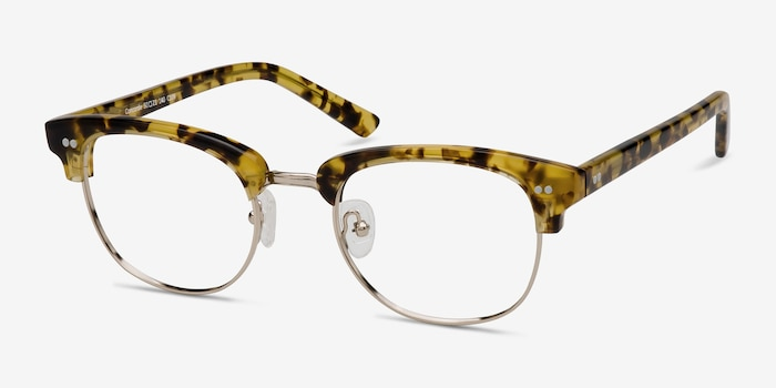 Concorde Tortoise Acetate Eyeglass Frames from EyeBuyDirect, Angle View