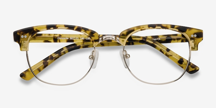 Concorde Tortoise Plastic Eyeglass Frames from EyeBuyDirect, Closed View