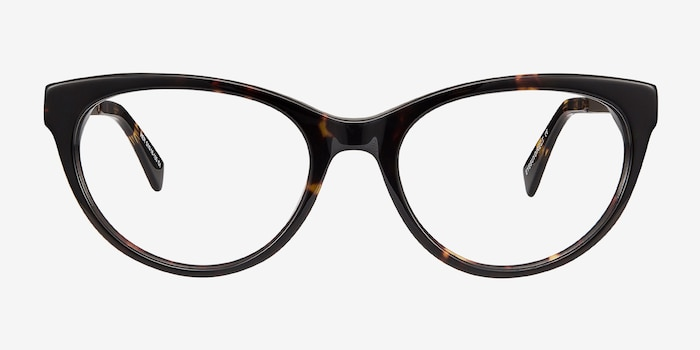 Her Tortoise Acetate Eyeglass Frames from EyeBuyDirect, Front View