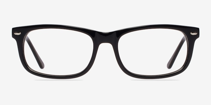 Birmingham Black Acetate Eyeglass Frames from EyeBuyDirect, Front View