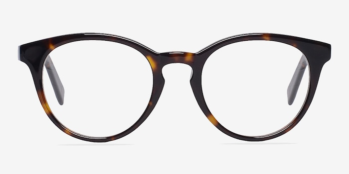 Stanford Tortoise Acetate Eyeglass Frames from EyeBuyDirect, Front View
