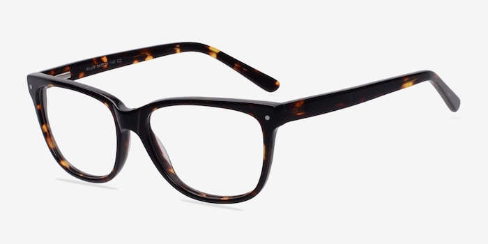 Allure Tortoise Acetate Eyeglass Frames from EyeBuyDirect, Angle View