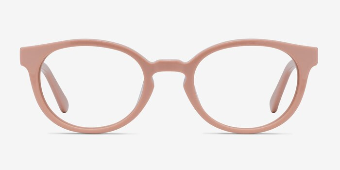 Rose Pink Acetate Eyeglass Frames from EyeBuyDirect, Front View