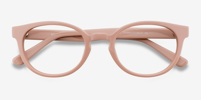 Rose Pink Acetate Eyeglass Frames from EyeBuyDirect, Closed View