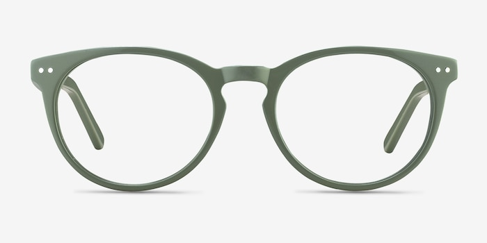 Morning Green Acetate Eyeglass Frames from EyeBuyDirect, Front View