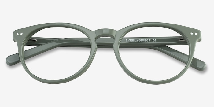 Morning Green Acetate Eyeglass Frames from EyeBuyDirect, Closed View