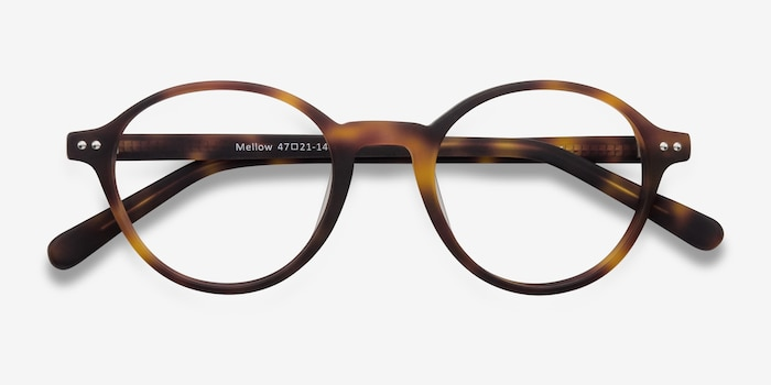Mellow Matte Tortoise Acetate Eyeglass Frames from EyeBuyDirect, Closed View