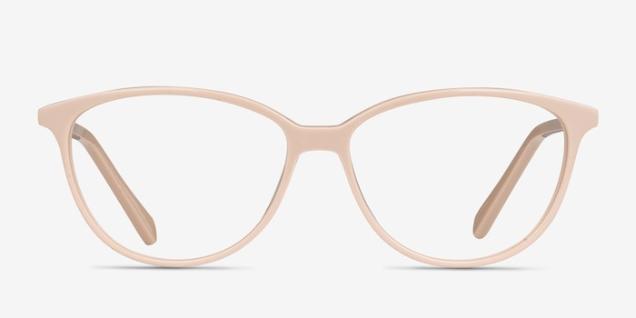 Coco Light pink Acetate Eyeglass Frames from EyeBuyDirect, Front View