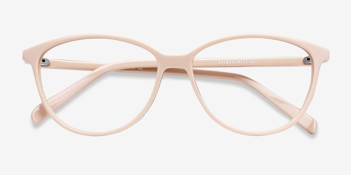 Coco Light pink Acetate Eyeglass Frames from EyeBuyDirect, Closed View