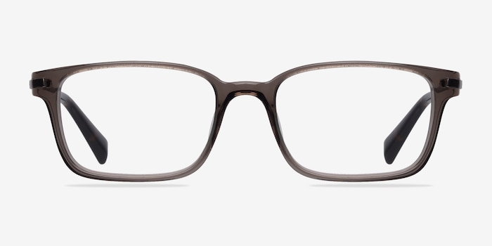 Dreamer Clear/Gray Acetate Eyeglass Frames from EyeBuyDirect, Front View
