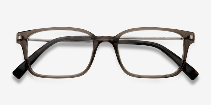 Dreamer Clear/Gray Acetate Eyeglass Frames from EyeBuyDirect, Closed View