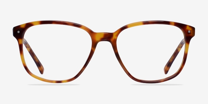 Lisbon Tortoise Acetate Eyeglass Frames from EyeBuyDirect, Front View