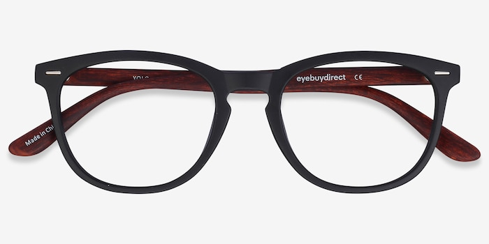 Yolo Black/Brown Plastic Eyeglass Frames from EyeBuyDirect, Closed View