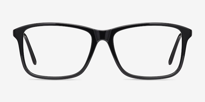 Pablo Black Plastic Eyeglass Frames from EyeBuyDirect, Front View