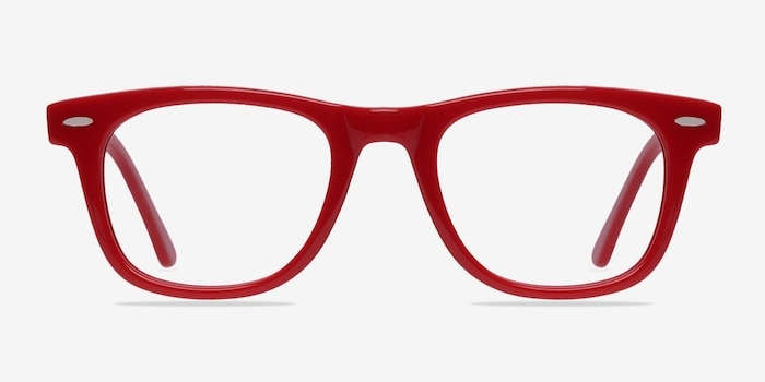 Blizzard Raspberry Acetate Eyeglass Frames from EyeBuyDirect, Front View