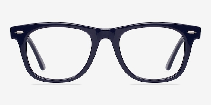 Blizzard Navy Acetate Eyeglass Frames from EyeBuyDirect, Front View