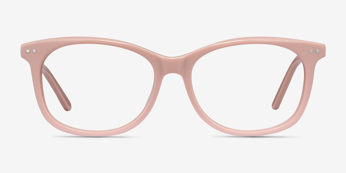 Brittany Pink Acetate Eyeglass Frames from EyeBuyDirect, Front View