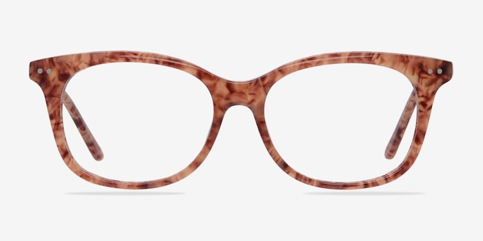 Brittany Brown/Floral Acetate Eyeglass Frames from EyeBuyDirect, Front View