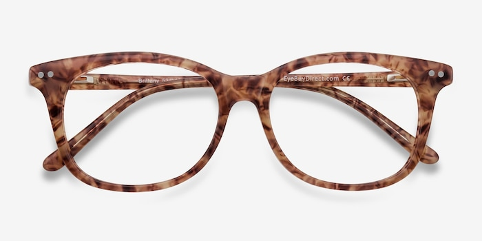Brittany Brown/Floral Acetate Eyeglass Frames from EyeBuyDirect, Closed View