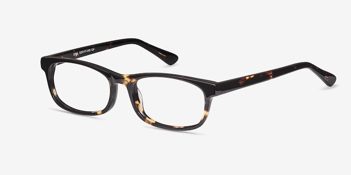 Opal Tortoise Acetate Eyeglass Frames from EyeBuyDirect, Angle View