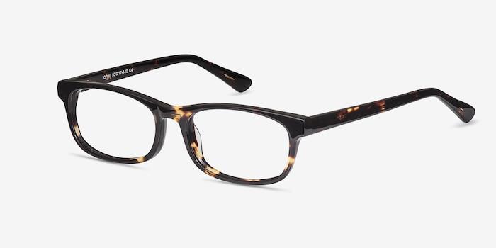 Opal Écailles Acétate Montures de Lunettes d'EyeBuyDirect, Vue d'Angle