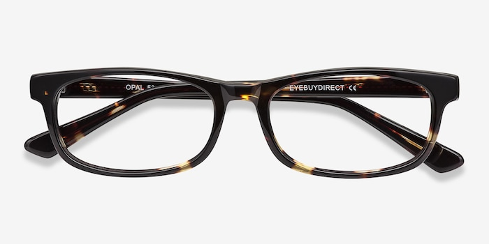 Opal Tortoise Acetate Eyeglass Frames from EyeBuyDirect, Closed View